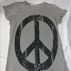 Peace sign cotton t shirt
